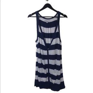 Old Navy Blue & White Striped Vest